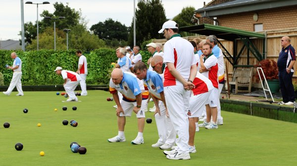 Playing on the bowling green