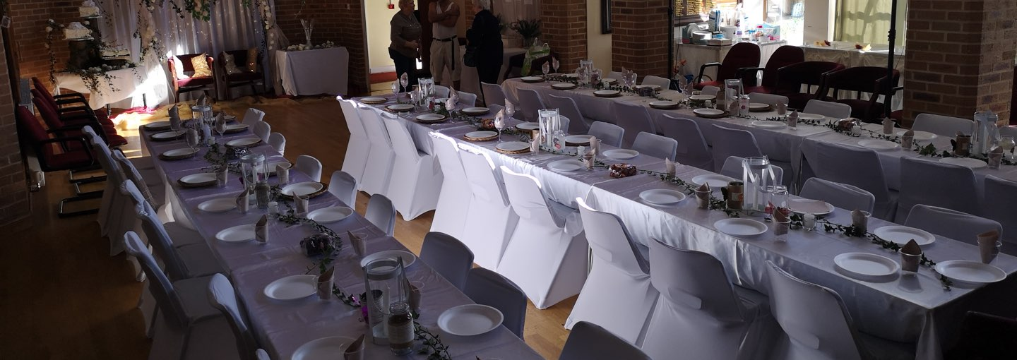Venue dressed for party
