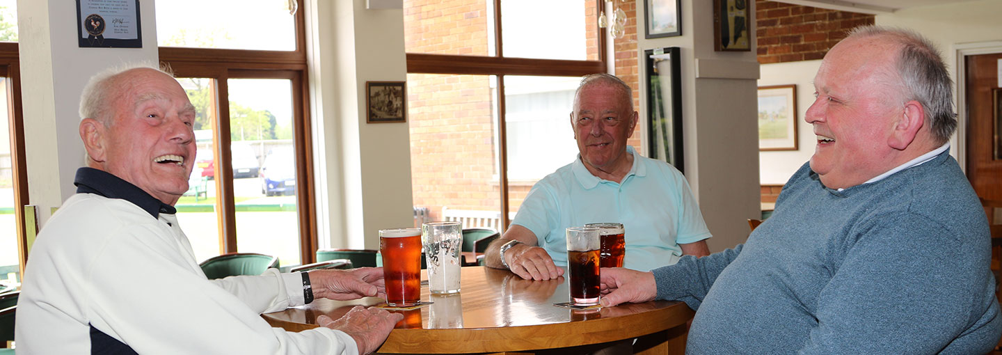 Members enjoying club bar